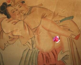 Curiosa erotic Chinese painting China naughty roll