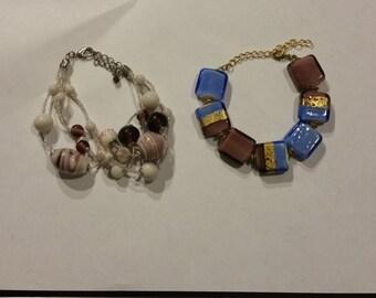Two Venetian Glass Bracelets