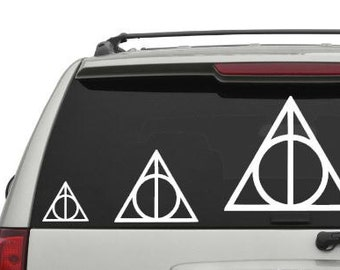 Deathly Hallows Car Decal, Harry Potter Car Decal Sticker