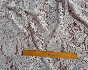 Lace Curtain material by the yard - Eden White or Ivory