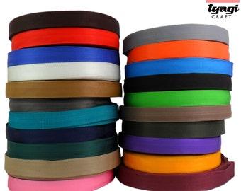 19mm Polypropylene Strap (2m/5m/10m/20m). (18 Colours) Light and Strong, Resistance, Webbing, Straps, Flexible, Military Belts