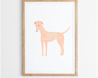 Forever - Typographic Dog Print  / Various Colours / Nursery Art / Dog Lover's Gift / Poster