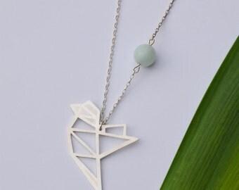"Necklace ""magic bird"" CASTONI, silver, handmade"