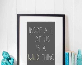 Wild Thing *Instant Download* Printable