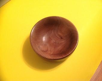 Woodturned walnut bowl
