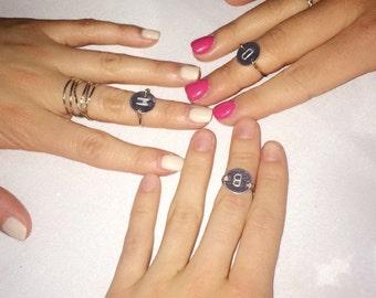 Personal Initials Midi Ring