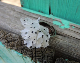 Cute Polka Dot Flower Ring