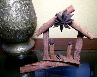 Nativity Ornament, cinnamon
