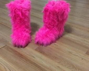 Mild Calf Fur Boots