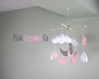 pink nursery decor,pink baby mobile,pink baby mobiles,star baby mobile,baby mobiles,baby mobile,nursery mobile,nursery mobiles,nursery decor