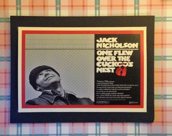 One Flew Over the Cuckoo's Nest Vintage Movie Poster 12'x18' Reproduction // Cult Movie // Jack Nicholson // Ken Kesey
