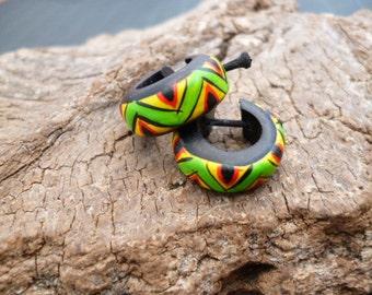 Small Rasta Wooden Earrings_CA42504887246_Hippie Rasta EARRINGS_Gift Ideas
