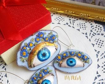 Earrings Blue Eyes