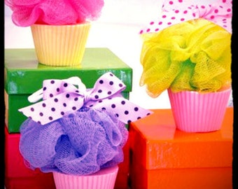 Cupcake Loofah Soap
