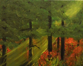 Halo - Landscape oil painting-AlleyVision Free Shipping inside USA