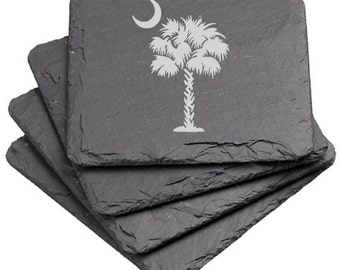 South Carolina Palmetto - Coaster Set