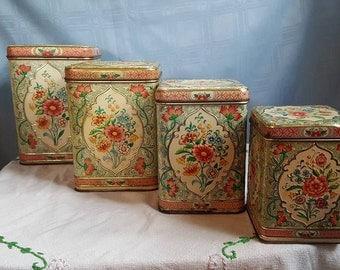Daher Holland Vintage Canister Set