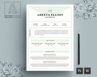 resume template cv template cover letter for word professional resume design instant - Art Resume Template