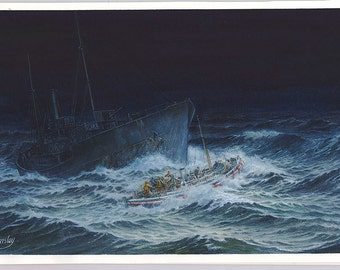 Advanturine - sea rescue watercolour original