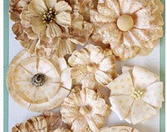 Floral Boutique Cream Paper Flowers