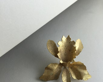 Gold Orchid pin