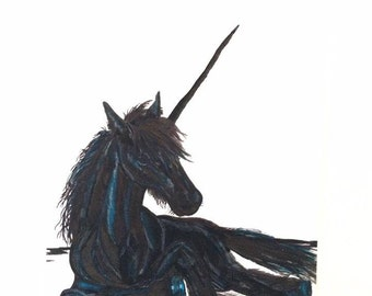 Black Unicorn painting