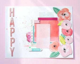 "Summer layout ""Happy"""