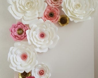 Custom Paper Flowers Backdrop, Wedding Decor, Events, Photo Background, Desserts Tables, Customize your Color