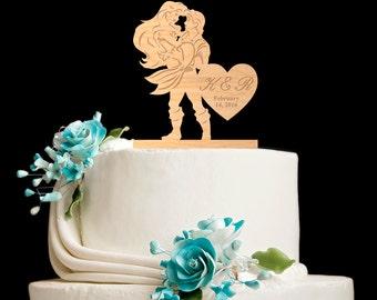 Mermaid wedding cake topper,little mermaid wedding,little mermaid cake topper,little mermaid,little mermaid wedding cake topper,5362016