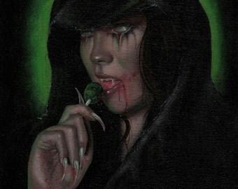Hand painted demonic vampire