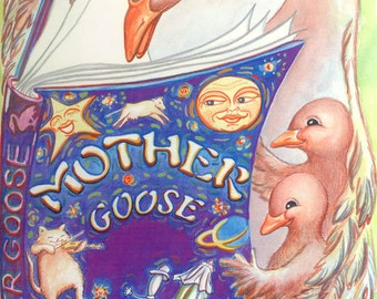Personalized Storybook/Mother Goose/Add Friends-Family-Hometown & More/Personalized and Printed Just For Your Child