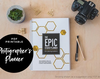 The EPIC Studio Planner for Photographers - Photographer Planner, PDF printable