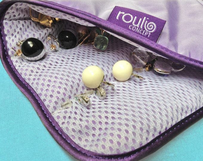 Piercing, earring, sleepers, Creole, nails, Pocket jewelry travel case, box, satin, taffeta, Christmas gift for women