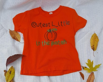 Cutest little pumpkin in the patch children's shirt