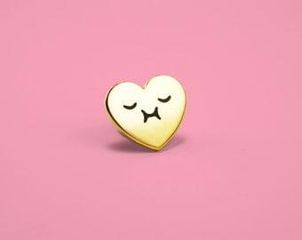 Happy Heart Enamel Pin