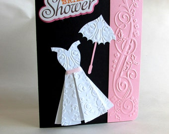"Handmade ""Gown"" Bridal Shower Card"