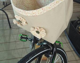 Upcycled Bicycle Basket / Car Waste Basket