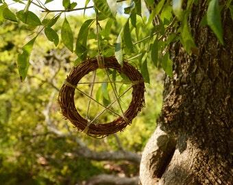 Grapevine Pentgram Wreath