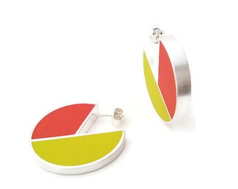 Large colorful earring