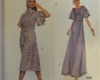 Vogue American designer dress Pattern 1849 Size 10