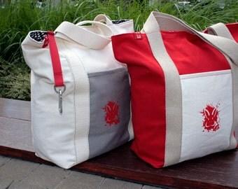"CityHopper ""Red Rabbit"" - urban tote bag"