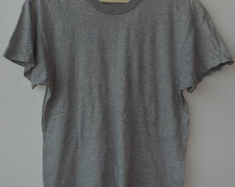 Vintage Gray T Shirts United Colors Shirts Benetton  Shirts Stripe Shirts  Medium Size