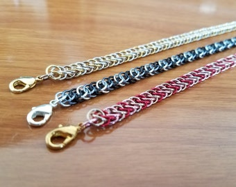 3 Color Half Persian Chainmail Bracelet