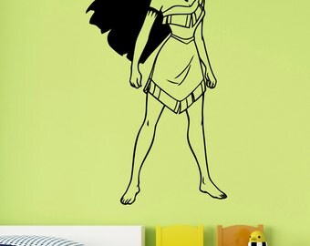 Pocahontas Wall Decal Vinyl Sticker Disney Princess Art Decorations for Home Teen Kids Girls Baby Room Playroom Bedroom Decor pocs1