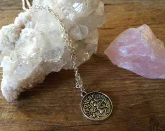 Sagittarius Double-Sided Coin Necklace
