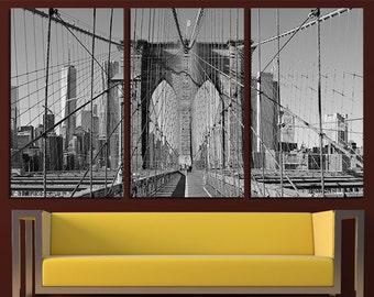 Brooklyn bridge etsy new york brooklyn bridge wall art east river canvas art new york print new york wall malvernweather Choice Image