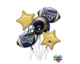 NFL LA Rams Football  – Bouquet Of Mylar Balloons - Los Angeles Rams