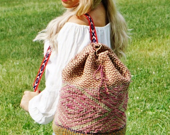 FREE SHIPPING!!Hipster handmade bag, gypsy peruvian backpack, artisan backpack, vintage backpack, ethnic backpack, peruvian backpack