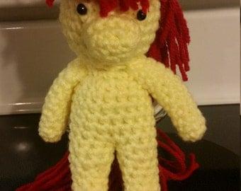 "My Little Pony Applebloom ""Hearth's Warming"" Crochet Doll"