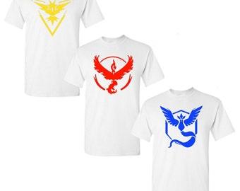 Pokémon Go Team White T-shirts